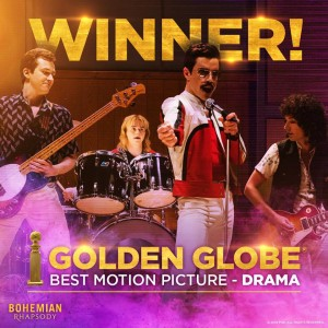 Bohemian Rhapsody (il film) trionfa ai Golden Globe Awards